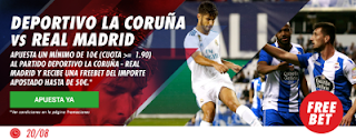 Circus promocion 50 euros Deportivo vs Real Madrid 20 agosto