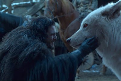 Jon reunites with Ghost in Game of Thrones' finale