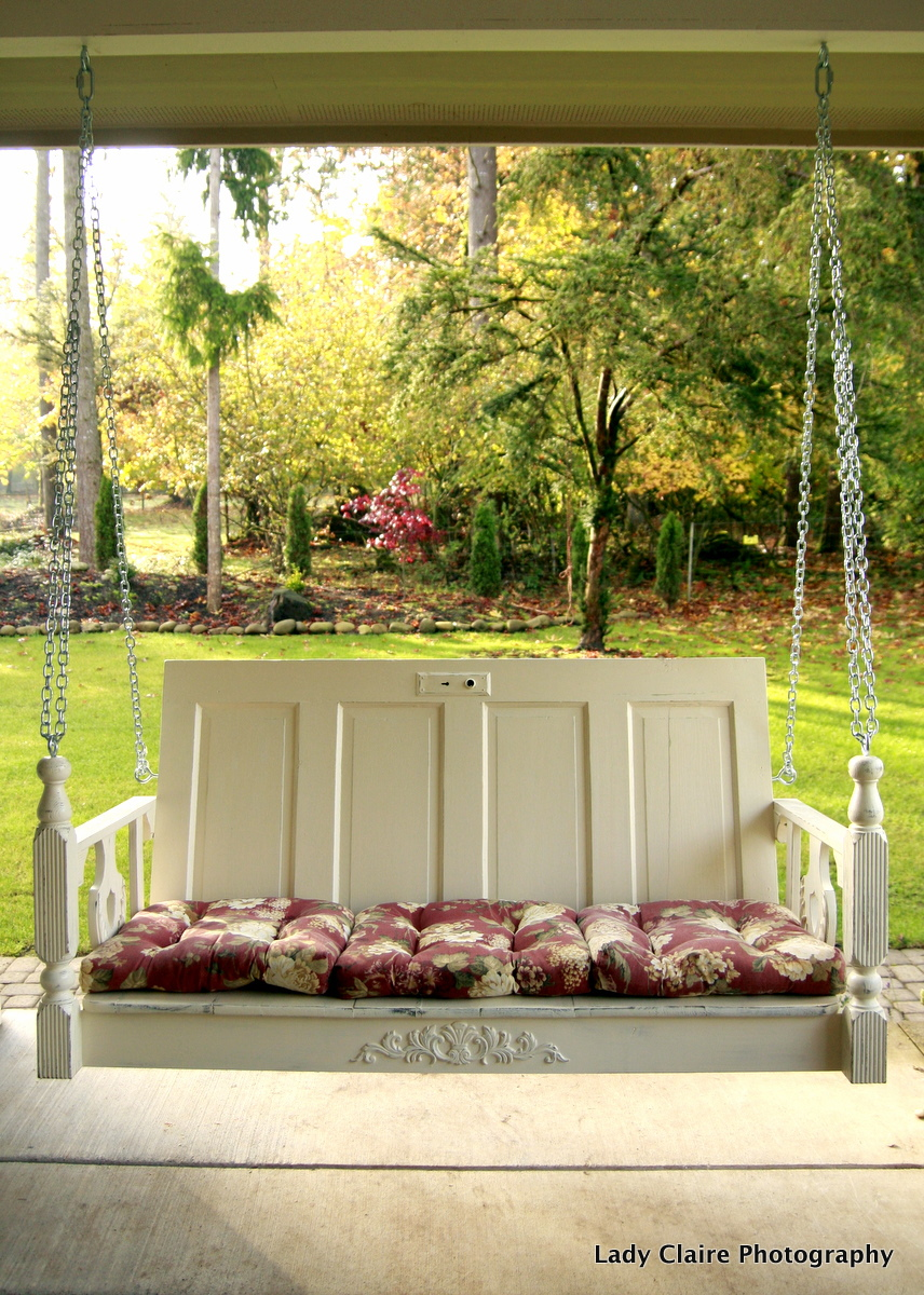 Relatively Huckleberry Lane: One of a Kind Porch Swing JT27