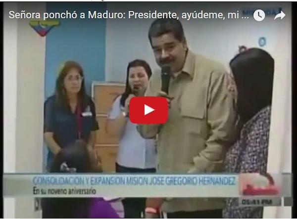 Mujer con niña desnutrida dejó a Maduro ponchado en vivo y directo