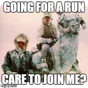 Going for a run on Hoth, the snowy planet in Star Wars