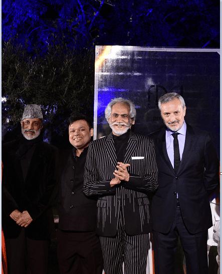 Aman Nath, Chairman of Neemrana Hotels, Vinay Gupta, owner of Shri Hari DiaGems, Sunil Sethi, President FDCI and H.E. Lorenzo Angeloni, Italian Ambassador to India