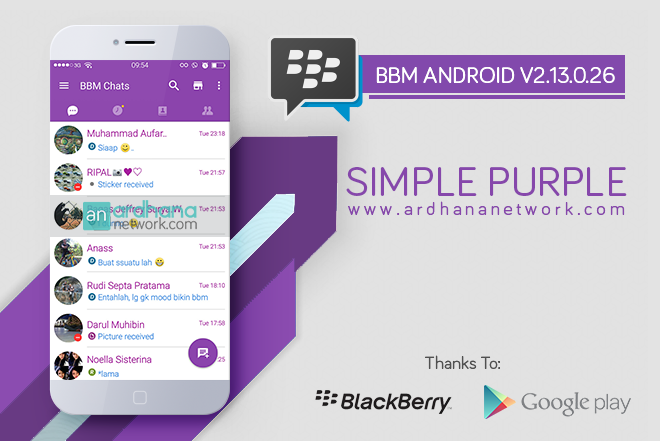 BBM Simple Purple V1.1.7