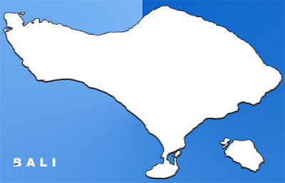 image: Bali blank map