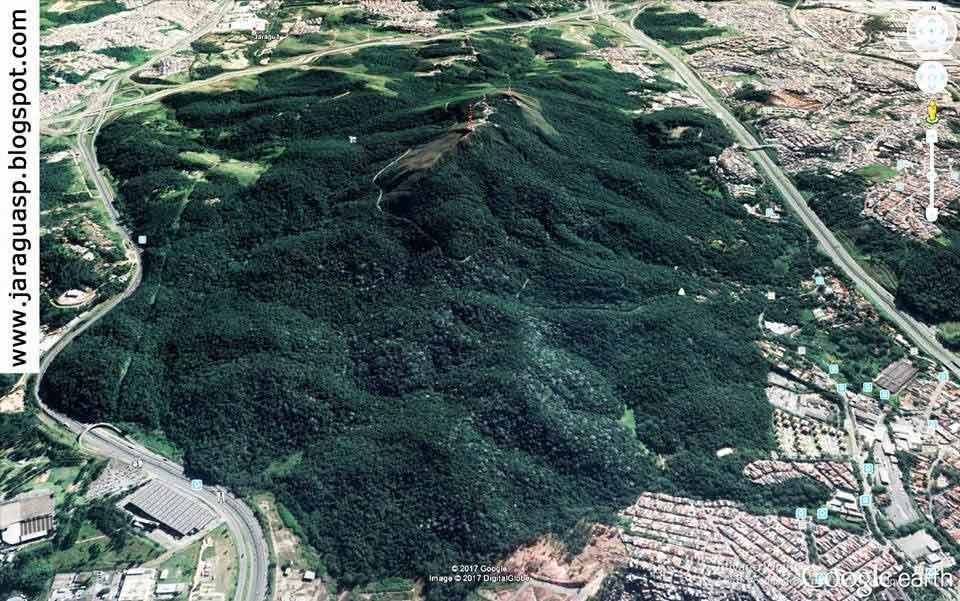 Confinamento do PEJ, que abriga o Pico do Jaraguá