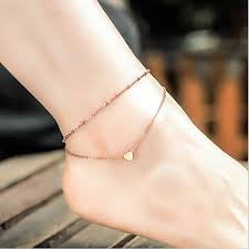 Lauren Cohan, yellow gold heart adjustable anklet in Serbia and Montenegro, best Body Piercing Jewelry