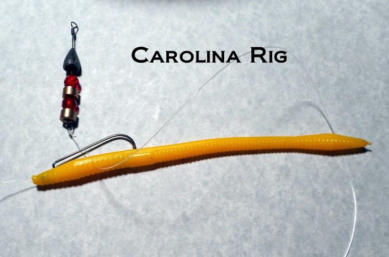 Derek herring fishing trick worms for Carolina rig fishing