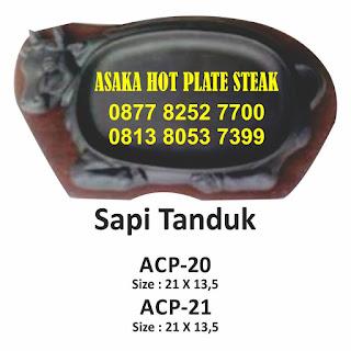 Hot Plate Sapi Tanduk ACP-20, ACP - 20 ( hot plate Sapi Tanduk), jual hotplate sapi. hot plate bentuk sapi, jual hot plate murah, grosir hot plate, hot plate kuliner, aneka hot plate kuliner