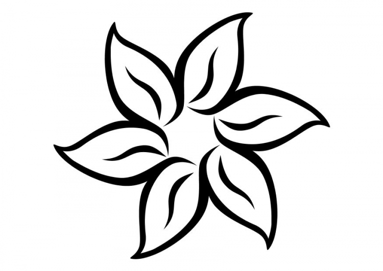 Lovely ... Flower Coloring Page . Small ...