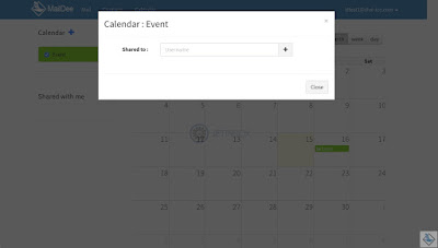 Cancel sharing calendar to another