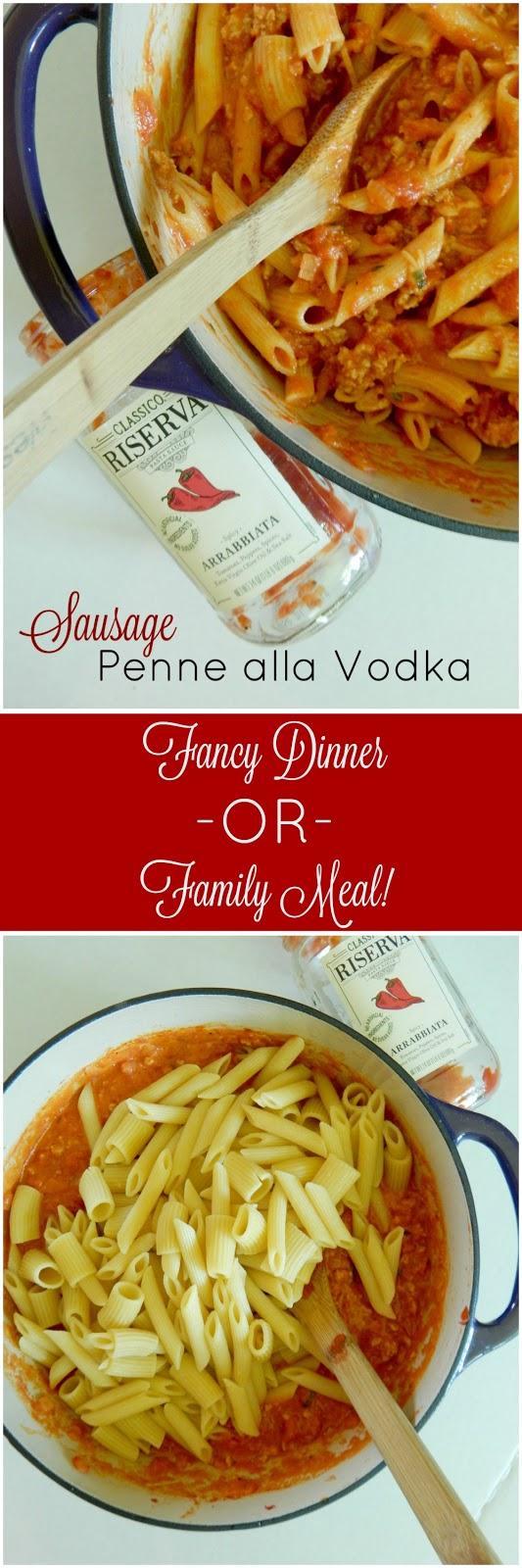 sausage penne alla vodka (sweetandsavoryfood.com)