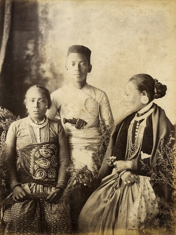 Group Photograph of a Nepalese Family - c1880's