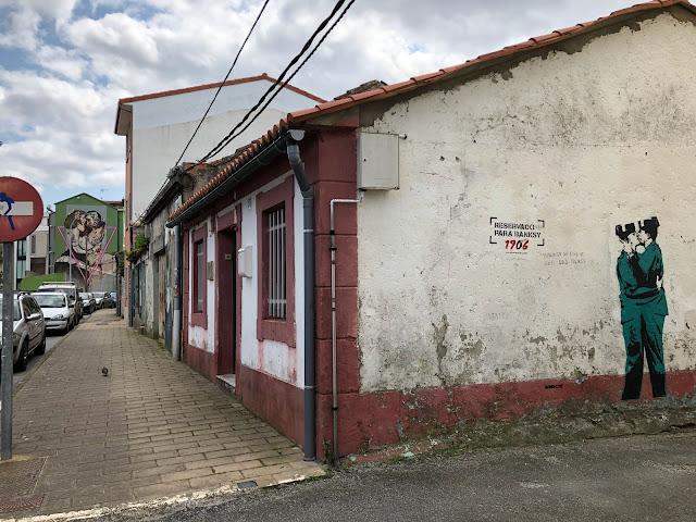 Obra de Banksy en Galicia