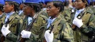 mujeres-soldados, Angola, Mexico, USA