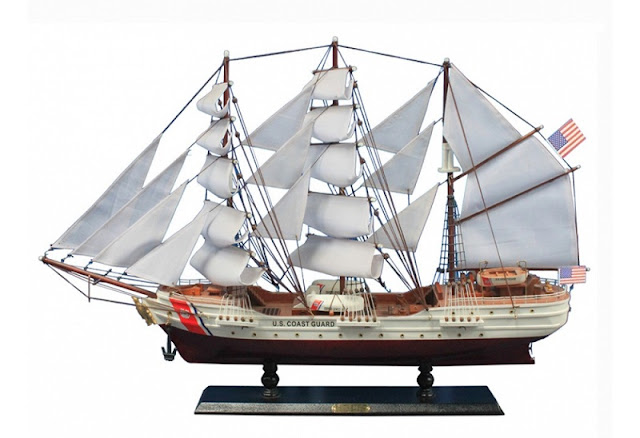 US Coast Guard Eagle Wooden Ship Model