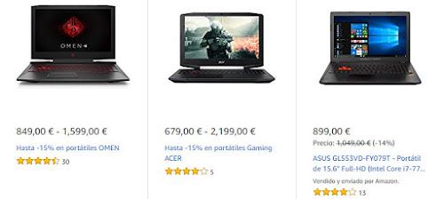 Mejores ofertas en portátiles de la Semana Gaming de Amazon