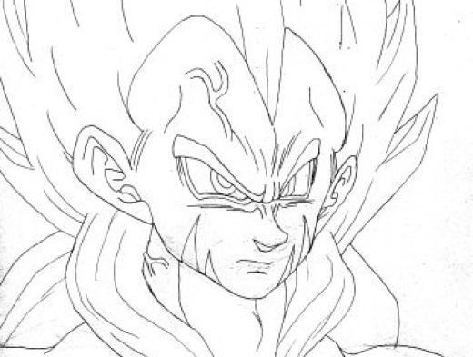 Colorir Imagens : Imagens Para Colorir Do Dragon Ball Z
