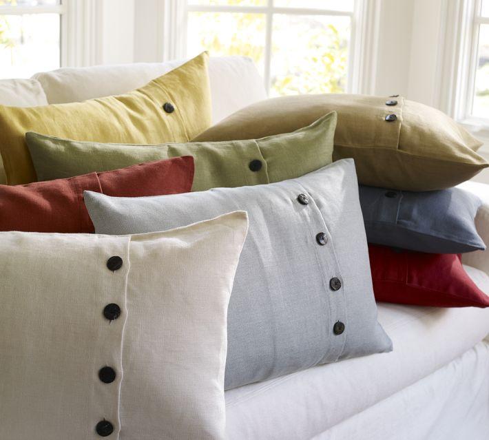 Pottery Barn Textured Linen Lumbar Pillow Decor Look Alikes