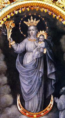 Imagen de la Virgen de la Nube o Nuestra Señora de la Nube a color