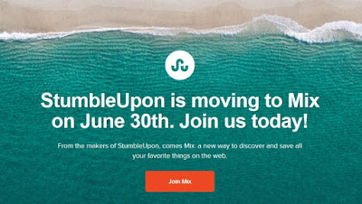 StumbleUpon Tutup 30 Juni 2018, Akun Pengguna Dipindah ke Mix.com