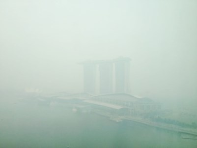 singapore haze marina bay sands