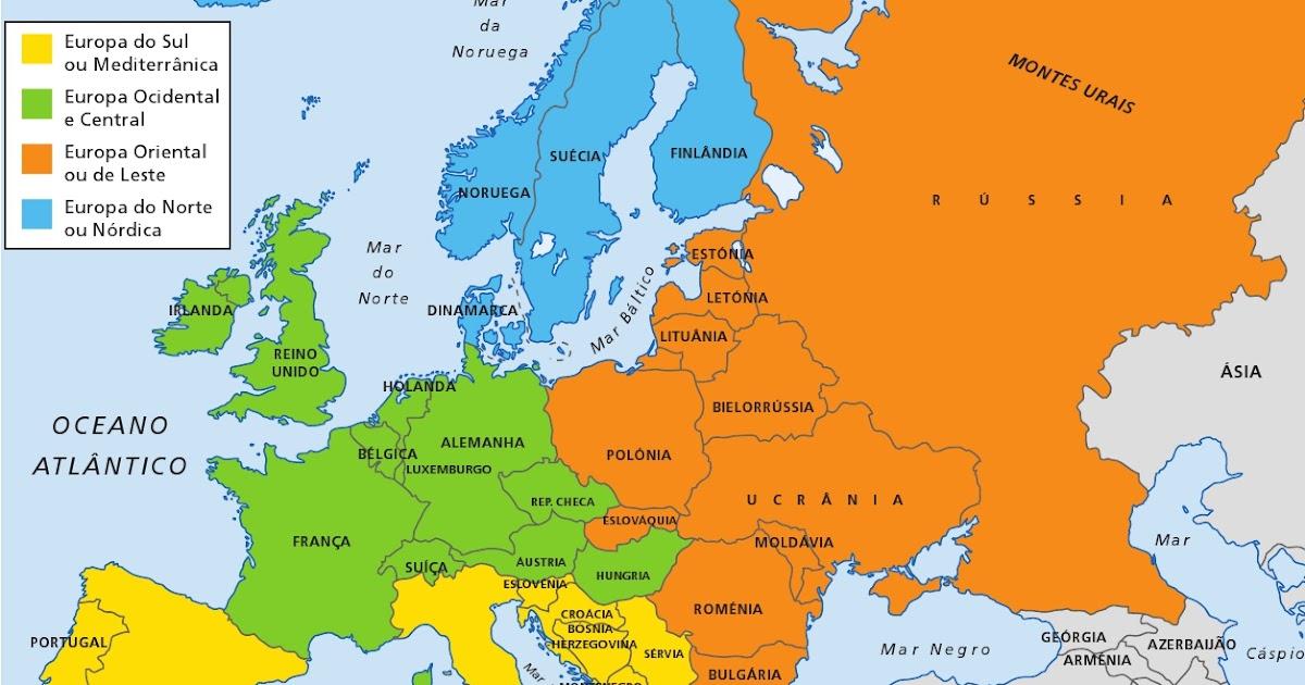mapa da europa do sul Clube do DVD: Mapa europa atual cidades mapa da europa do sul