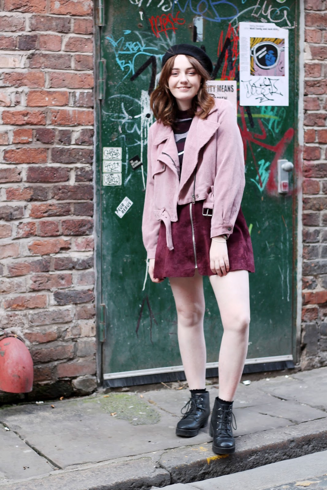 Liverpool blogger Nasty Gal jackets pink and purple outfit