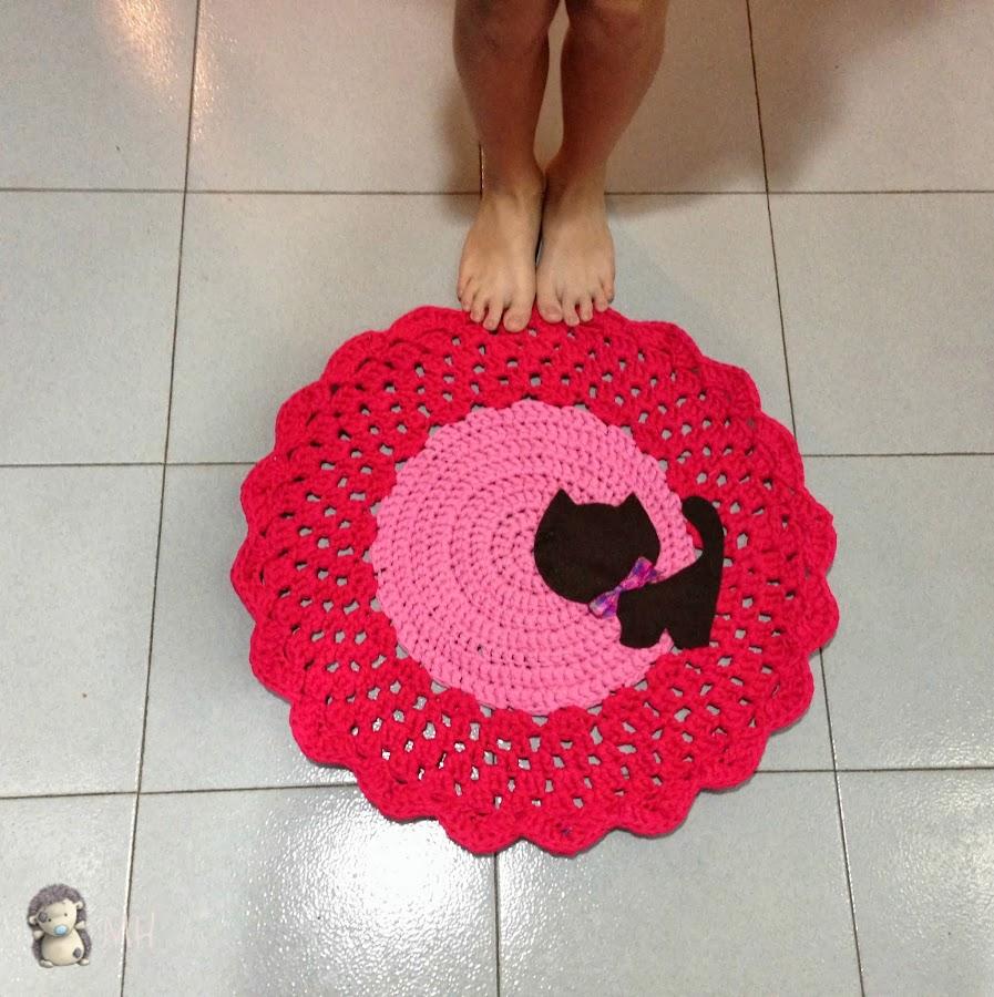 Tutorial: cómo hacer una alfombra de trapillo con gatito