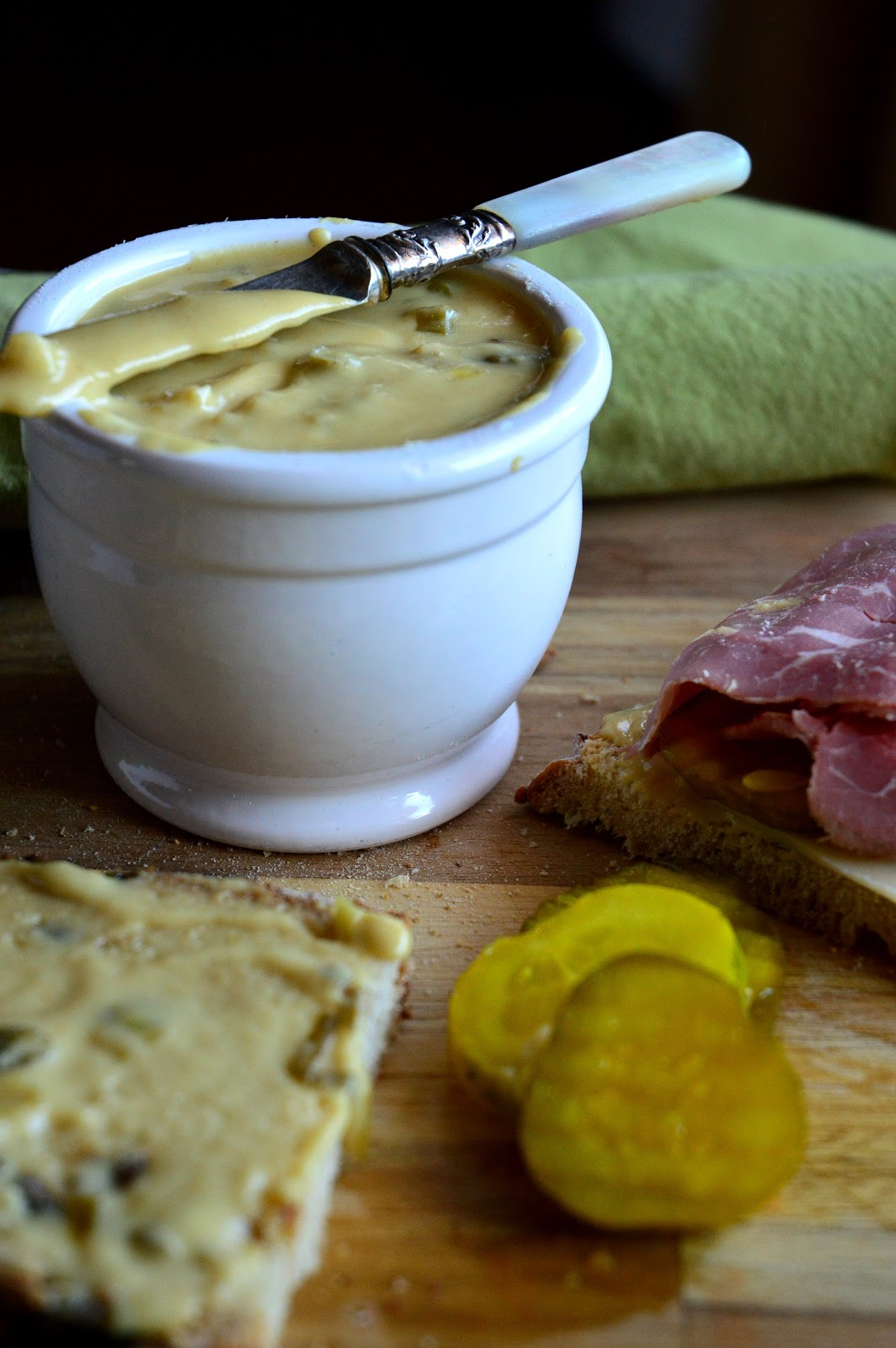This sweet hot mustard is almost identical in taste to Hickory Farms sweet hot mustard. With just 5 ingredients you can have the same thing and have the pleasure of saying you made this yourself! Perfect as gifts and also perfect on a corned beef sandwich, this sweet and spicy mustard is addicting! #mustard #copycatrecipe #HickoryFarms www.thisishowicook.com