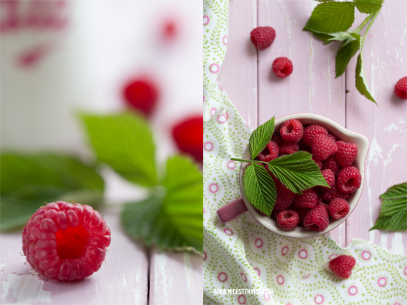 Himbeeren in Schale Food Photography