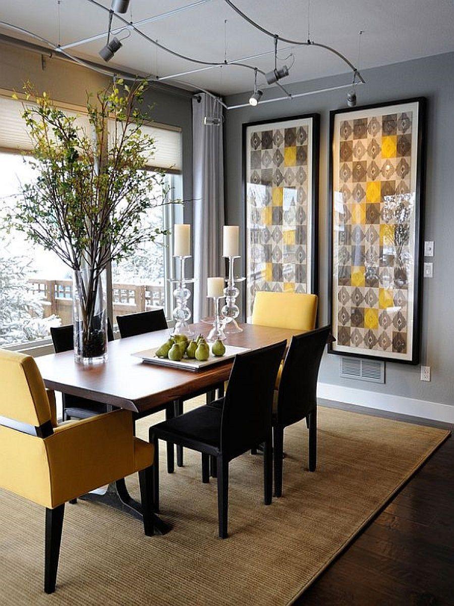 Sala De Jantar Preto E Amarelo ~ cor descobriu o parceiro ideal, o amarelo, um tom vibrante que tira