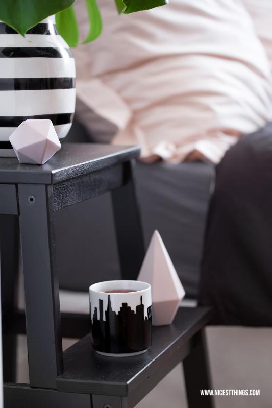 Kähler Omaggio Vase schwarz weiß gestreift
