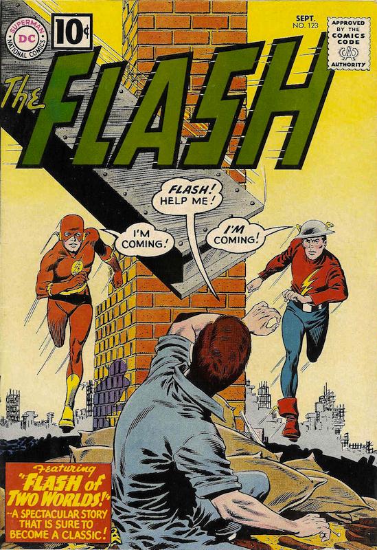 The Flash #123 (1961):  Carl Gafford colorist  Carmine Infantino penciler  Gardner Fox writer  Joe Giella inker  Julius Schwartz editor  Murphy Anderson inker