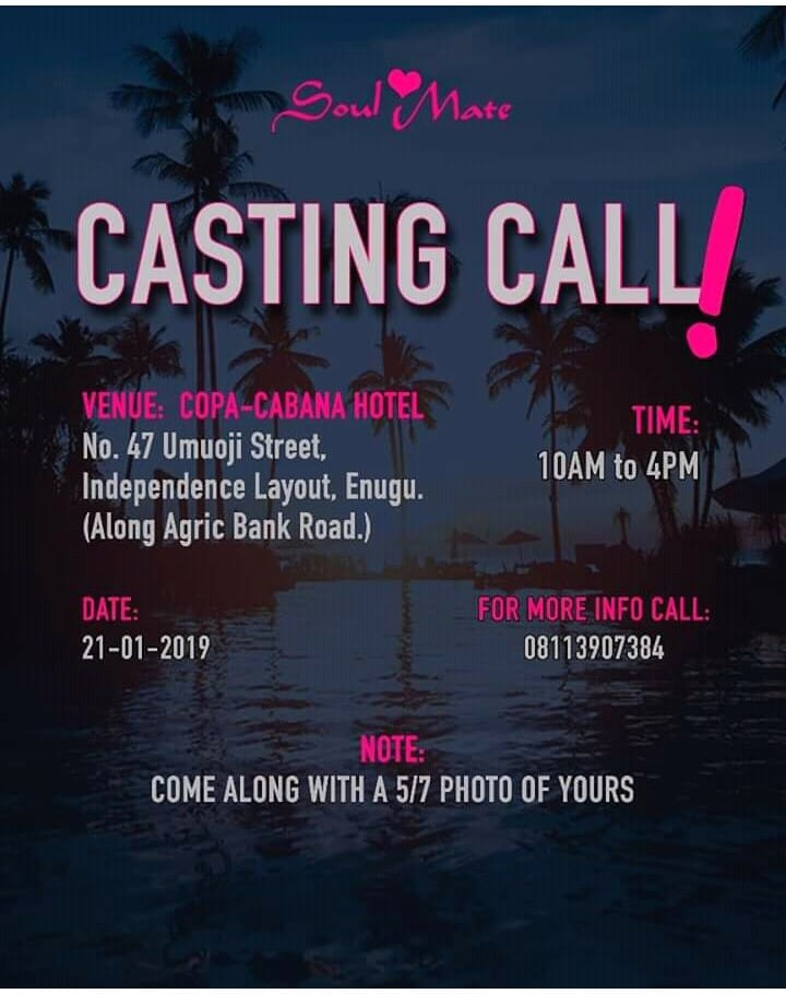Audition: Soul Mate Studio presents their first Movie Audition