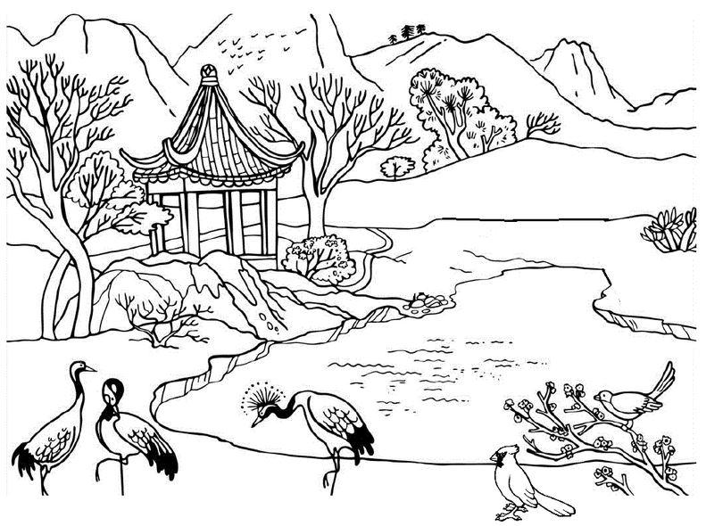 Gambar Mewarnai Sungai