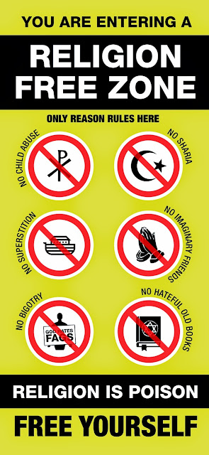 Religion Free Zone Sign Picture