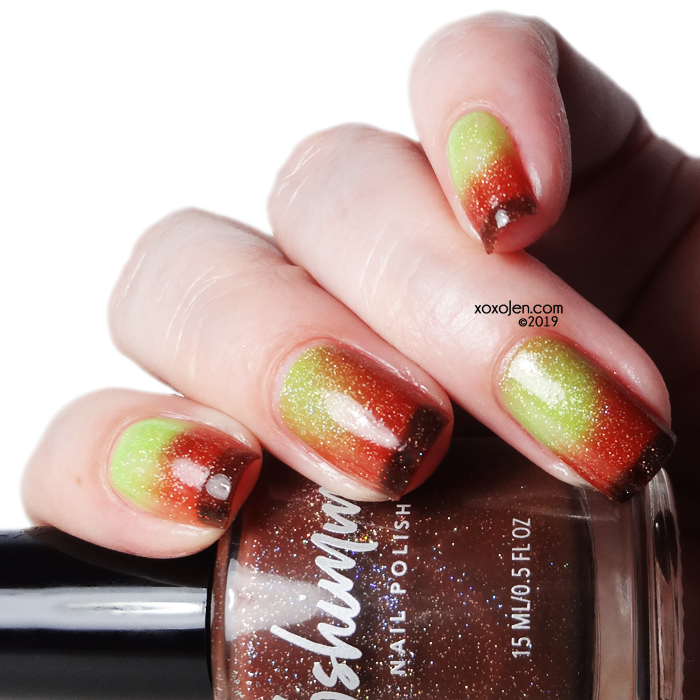 xoxoJen's swatch of kbshimmer Apple-y Ever After