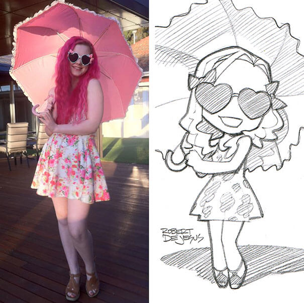 Artist Transforms Strangers Into Amazing Anime Characters