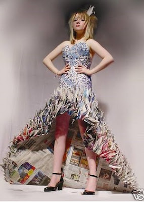 Fashion and Art Trend: Recycled Fashion: Beautiful Dresses ...