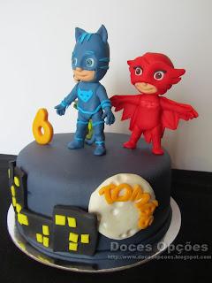 bolo aniversário PJ Masks bragança
