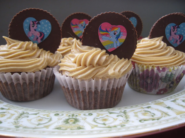 Double Chocolate Cupcakes with Peanut Butter Frosting Recipe