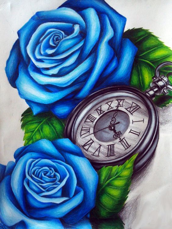 Plantillas Para Tatuar Flores Azules Adn Tatuajes Y Estetica