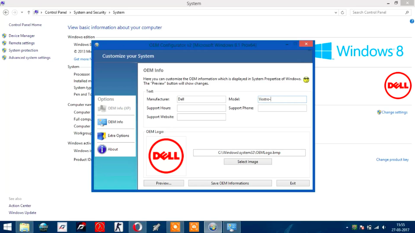 Add OEM Logo to System Information in Windows 10, 8 1, 8  – Tec4Tric