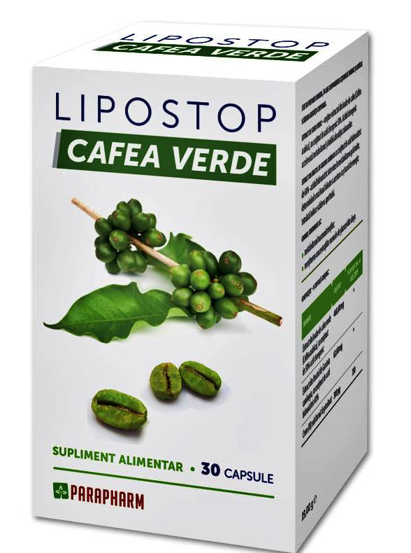 Lipostop Cafea Verde, 30 capsule, Parapharm
