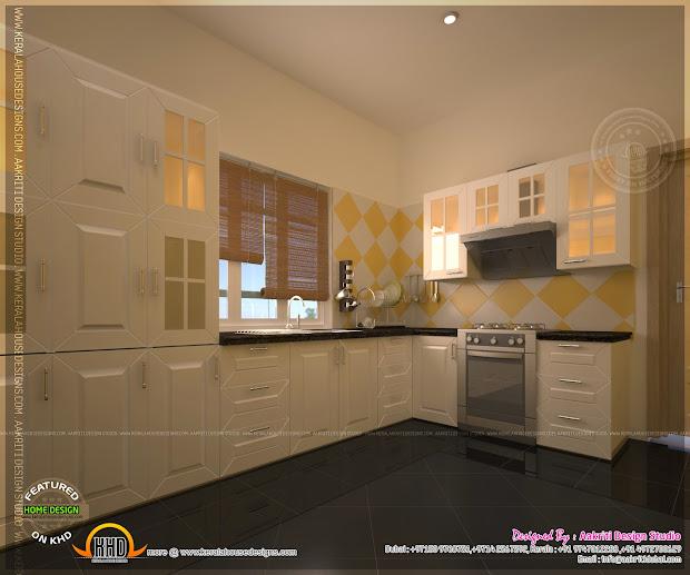 Kitchen Design Aakriti Studio Home Kerala Plans