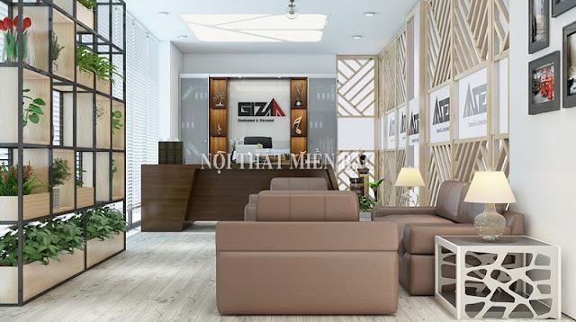 Thiết kế nội thất phòng giám đốc với nội thất đơn giản cần có sự đồng điệu về gam màu cũng như kiểu dáng, kích thước,
