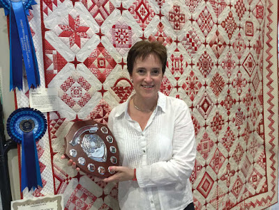Frances Meredith 'Nearly Insane' quilt  Overall Champion Great Northern Show 2016