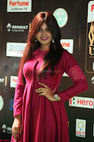 Monal Gajjar in Maroon Gown Stunning Cute Beauty at IIFA Utsavam Awards 2017i 007.JPG