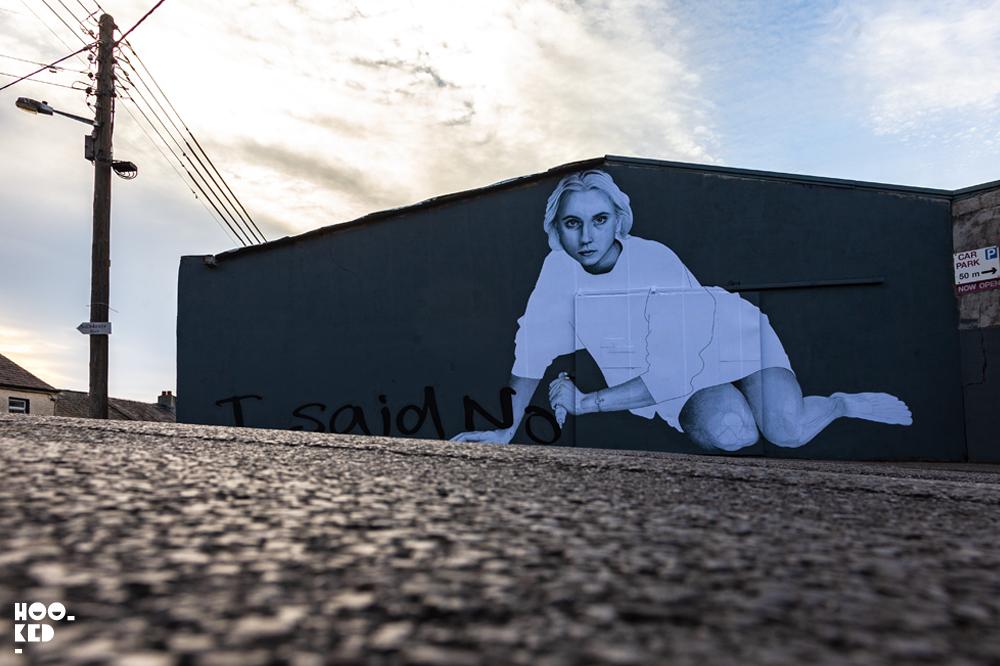 Waterford Street Art paste-up mural by Irish artist Joe Caslin