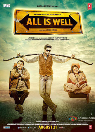 All Is Well 2015 Hindi DVDScr 480p 350mb